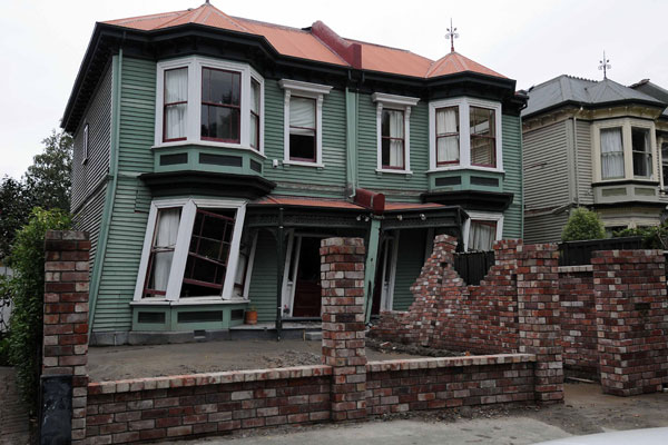 House damaged in one of the quakes
