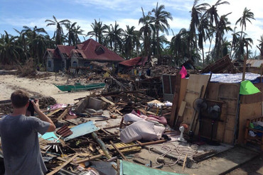 Homes in the town of Anibong were completely destroyed by Typhoon Haiyan (Photo: 3 News/Michael Morrah)