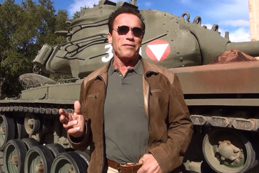 Arnie and his tank