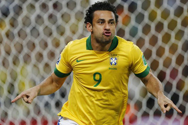 Brazil's Fred opened the scoring in the second