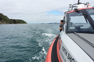 Search and rescue teams found one of the men's bodies near Kawau Island yesterday (Supplied)