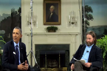 Obama and Galifianakis in Between Two Ferns