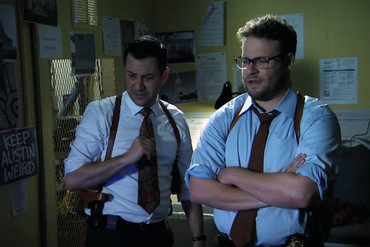 Seth Rogen and Jimmy Kimmel in their True Detective season two 'sneak peek'