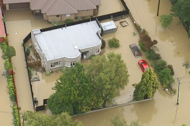 Homes have been swamped by the floods (3 News)
