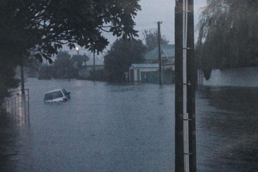 Flooding in Christchurch (Photo: James Dabner/3 News)