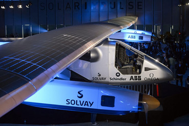 The new experimental aircraft Solar Impulse 2 (AAP)