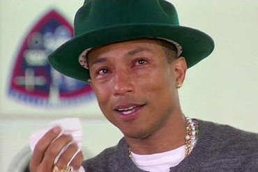Pharrell Williams during his appearance