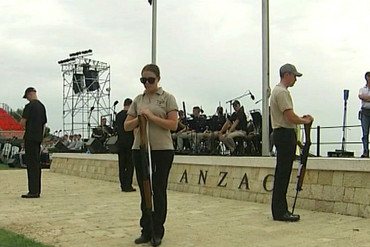 Rehearsal for tomorrows ANZAC Day service