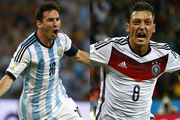 Lionel Messi and Mesut