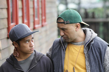 James Rolleston and Cliff Curtis in The Dark Horse