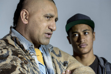 Cliff Curtis and James Rolleston in The Dark Horse