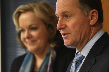 Judith Collins and John Key (Getty)