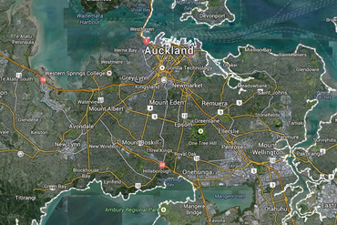 Google Maps view of Auckland