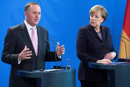 Key and Merkel on refugee crisis