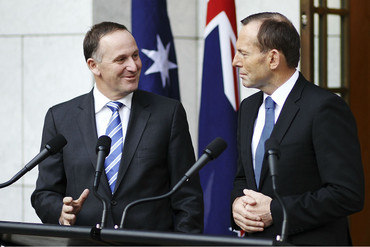 John Key and Tony Abbott (Getty)